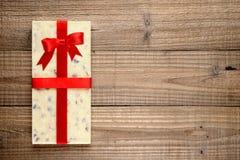 White chocolate with ribbon Royalty Free Stock Photos