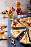 White chocolate, rum and caramel tart Royalty Free Stock Images