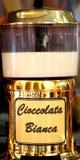 WHITE CHOCOLATE on sale at Italian market Stock Photos