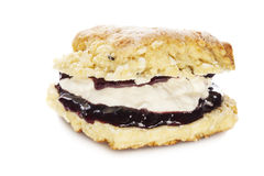 White Chocolate Scone Isolated Stock Image