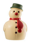 White chocolate snowman Royalty Free Stock Photos