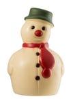 White chocolate snowman. Christmas decoration snowman made of white chocolate royalty free stock photos