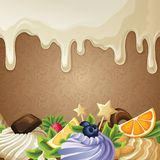 White chocolate sweets background Stock Photos