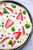 White chocolate tart Royalty Free Stock Photo