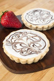White Chocolate Tarts Stock Photos