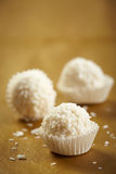 White chocolate truffles royalty free stock photos