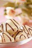 White chocolates royalty free stock photo