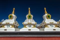 White chortens stupas in Ladakh, India Stock Images
