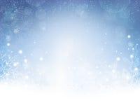 White Christmas azul abstrato, fundo do inverno Fotos de Stock