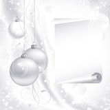 White Christmas background Royalty Free Stock Photography