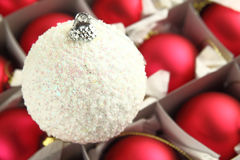 White Christmas ball Royalty Free Stock Photography