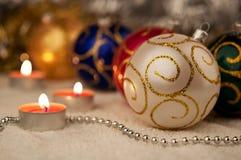 White Christmas ball Stock Photos