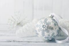 White Christmas Ball Royalty Free Stock Photo