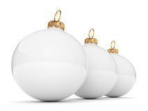 White Christmas ball Stock Photography
