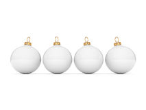 White Christmas ball Stock Image