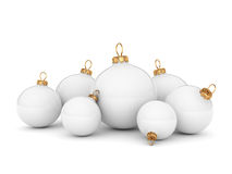 White Christmas ball Royalty Free Stock Photo