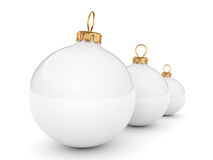 White Christmas ball Royalty Free Stock Image