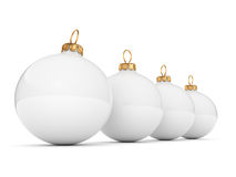 White Christmas ball Stock Photos