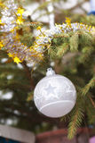 White Christmas ball Royalty Free Stock Photography
