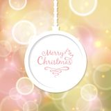 White Christmas ball with the inscription. And for the new year Stock Image