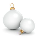 White Christmas ball royalty free illustration