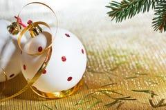White Christmas ball Stock Image