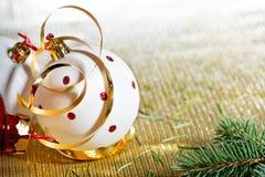 White Christmas ball Stock Photo