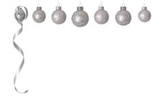 White Christmas balls Royalty Free Stock Images