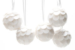 White Christmas Balls Stock Photography