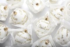 White christmas balls Stock Photo