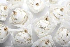 White christmas balls Stock Photo
