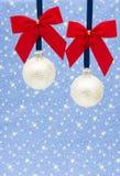 White Christmas Balls Royalty Free Stock Photos