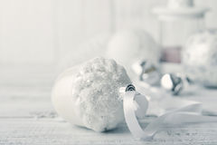 White christmas balls Royalty Free Stock Photos