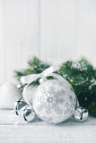 White christmas balls Royalty Free Stock Images