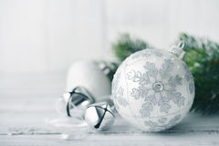 White christmas balls Stock Images