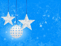 White christmas bauble background Stock Photography