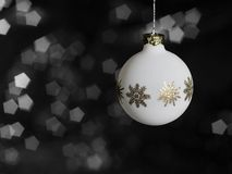 White Christmas bauble Royalty Free Stock Images