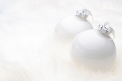 White Christmas Baubles Royalty Free Stock Image