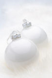 White Christmas Baubles Stock Photo