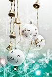 White christmas baubles Royalty Free Stock Photo