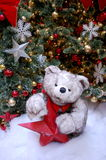 White Christmas Bear in Snow Royalty Free Stock Photography