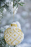 White christmas bulb Royalty Free Stock Image
