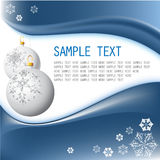 White Christmas bulbs. With snowflakes on blue background vector illustration