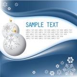White Christmas bulbs Royalty Free Stock Image