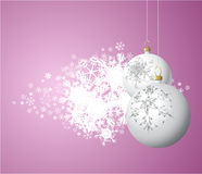 White Christmas bulbs Royalty Free Stock Photography