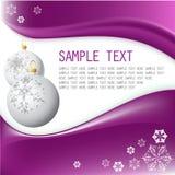White Christmas Bulbs With Snowflakes Royalty Free Stock Photo