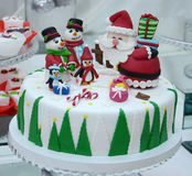 White Christmas Cake Royalty Free Stock Images