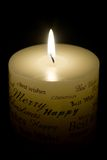 White Christmas Candle Royalty Free Stock Photo