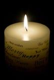 White Christmas Candle Royalty Free Stock Photo