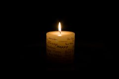 White Christmas Candle Stock Photography